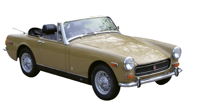 """Classic Wheels - """"I tinker with a 1973 MG Midget, which is an old British model. I'm building it into a hot-rod streetcar."""""""