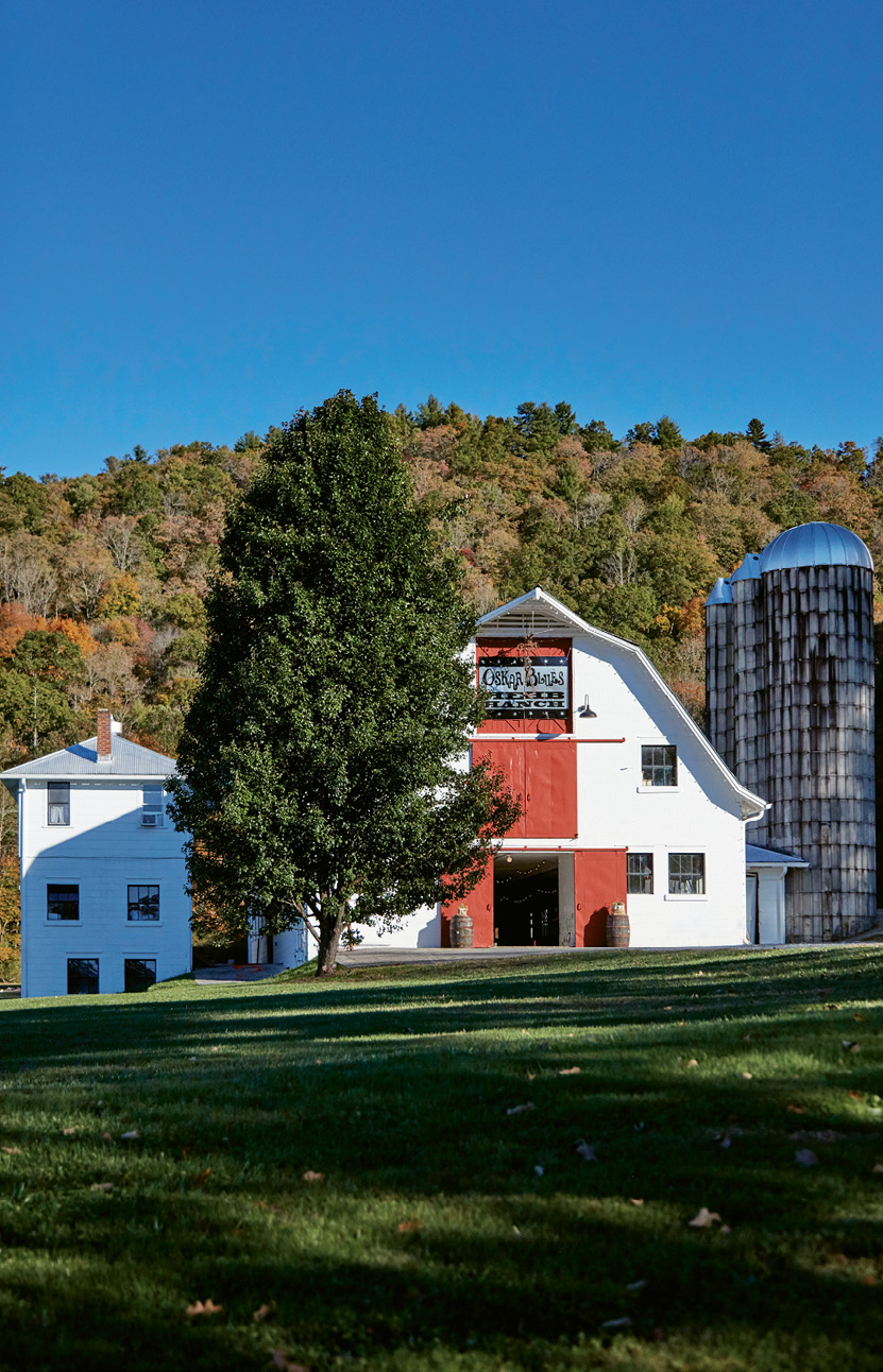 Founded by Oskar Blues CEO and avid mountain biker Dale Katechis, the ranch's barn (below) is a popular event and wedding space, and trails and a pump track draw cyclists from across the country.