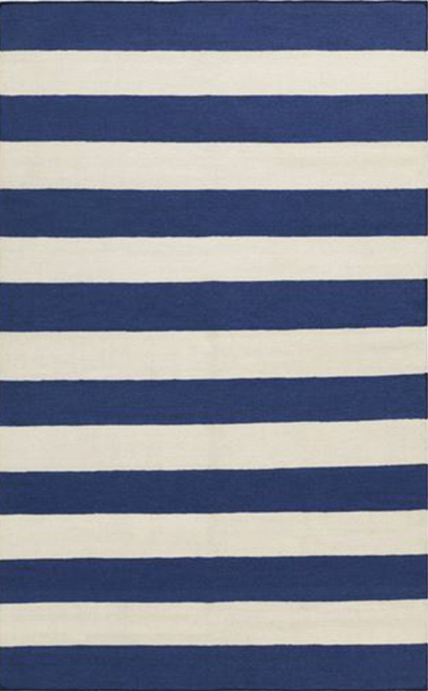 """""""Frontier"""" striped wool rug by Surya, $315 (for 5- x 8-foot size) at Celadon Home"""