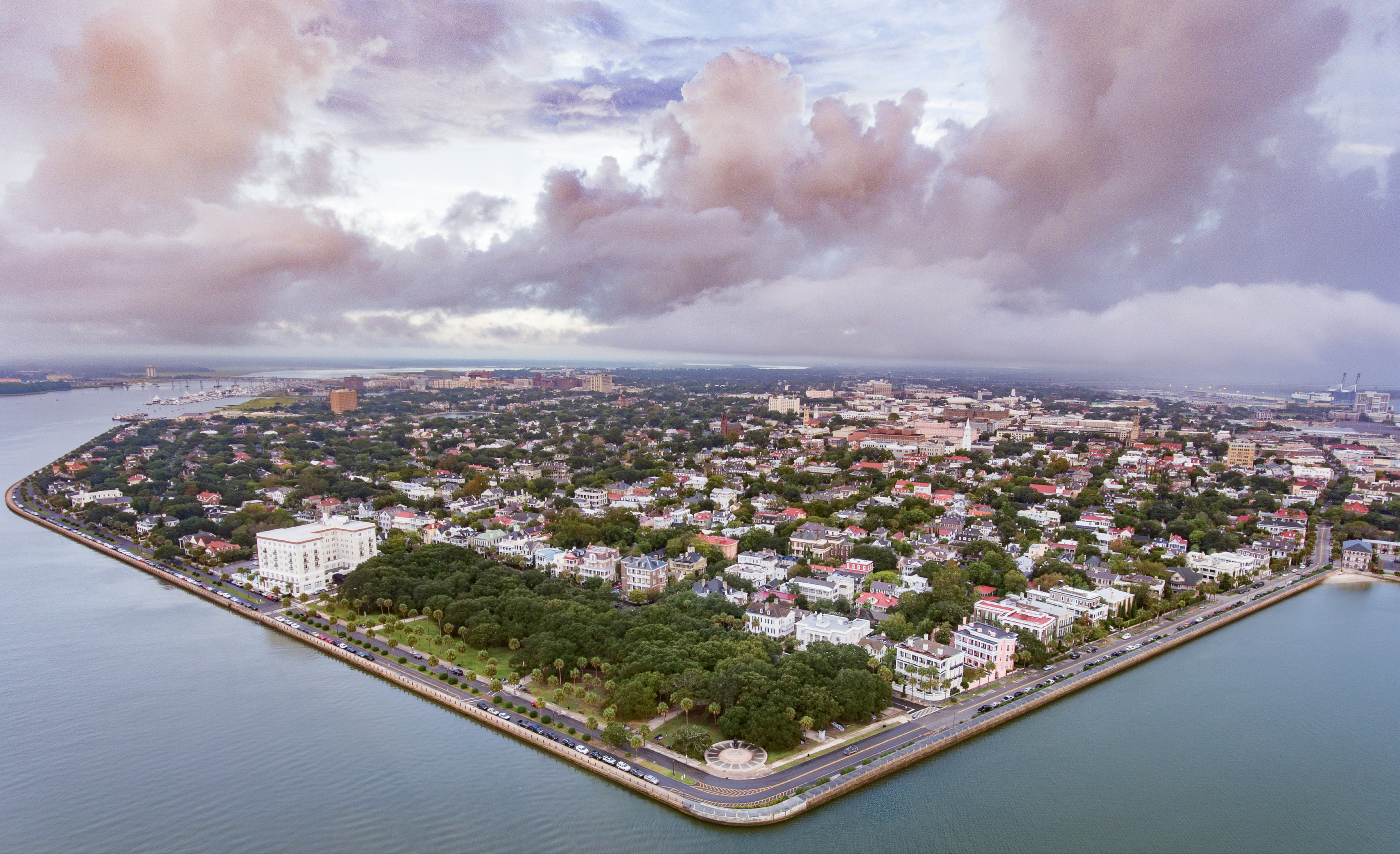 1st Place Professional Category - A Corner Of Charleston by Nicholas Skylar Holzworth  {Professional category}  - An early morning overlooking the peninsula