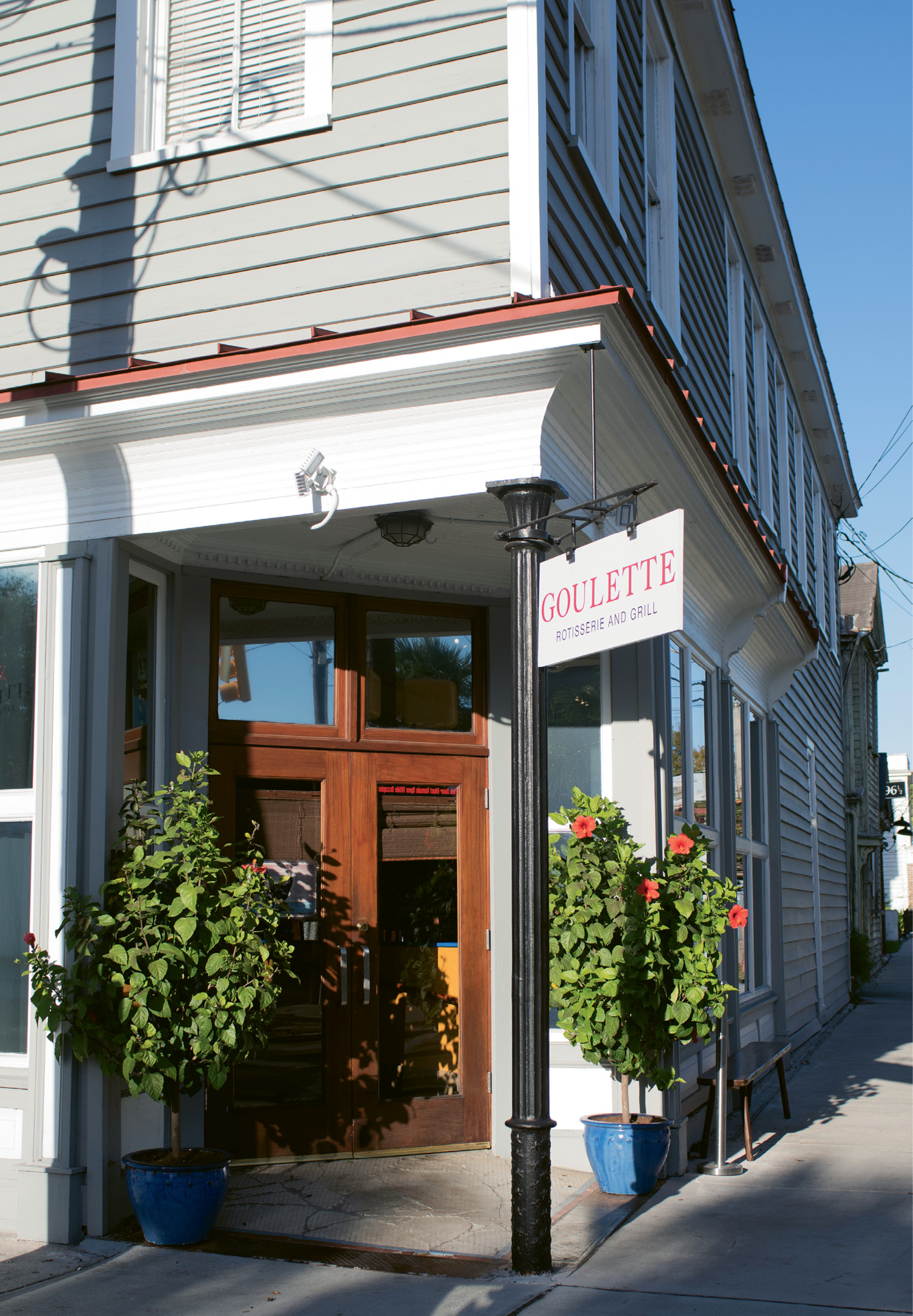 In the Neighborhood: After years of serving patrons on King Street, Goulet wished to cater to locals in a more casual environment; the former Lana space on Rutledge Avenue provided the perfect location.