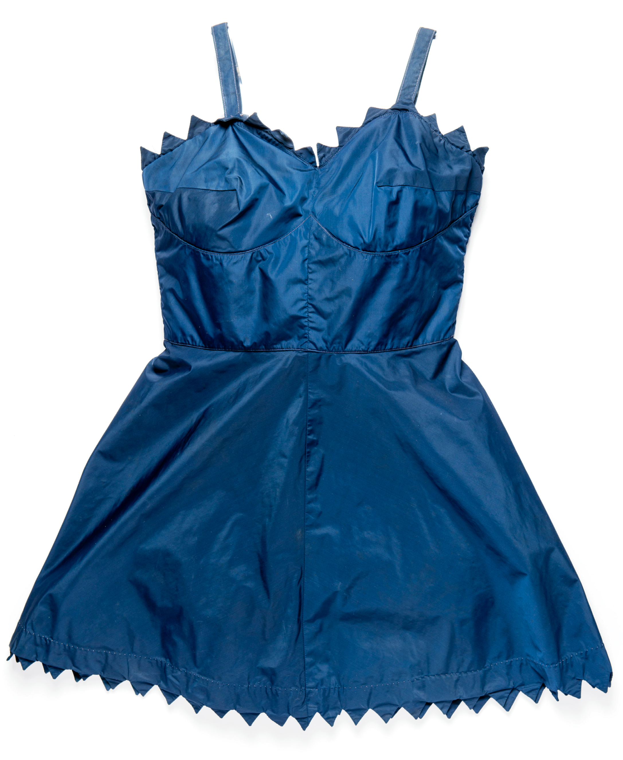 1930s - Isle of Palms and Folly Beach were awakening into hot destinations for fun in the sun and surf during the decade in which this taffeta frock debuted.