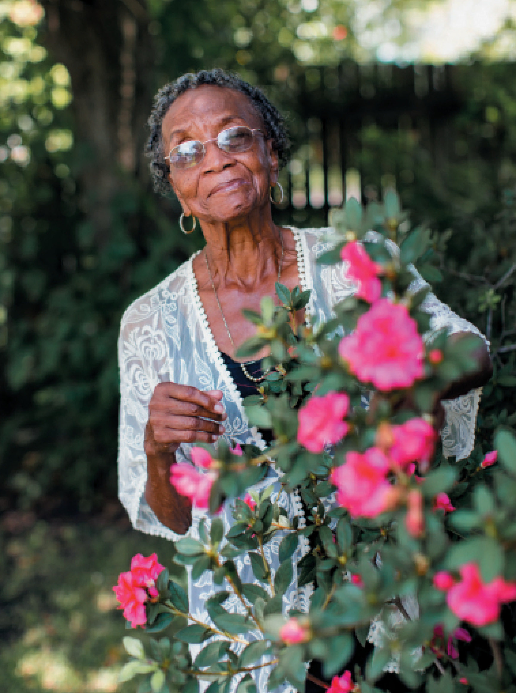 """The Grower: Martin-Carrington's nurturing expertise extends to her garden. """"She took cuttings from my wedding bouquet and somehow made them grow into plants,"""" says her granddaughter Ashley Meader. """"She puts her hands into the dirt, and something different happens. There's a magic and energy about her that literally starts from the ground up. People are drawn to her, and plants too!"""""""