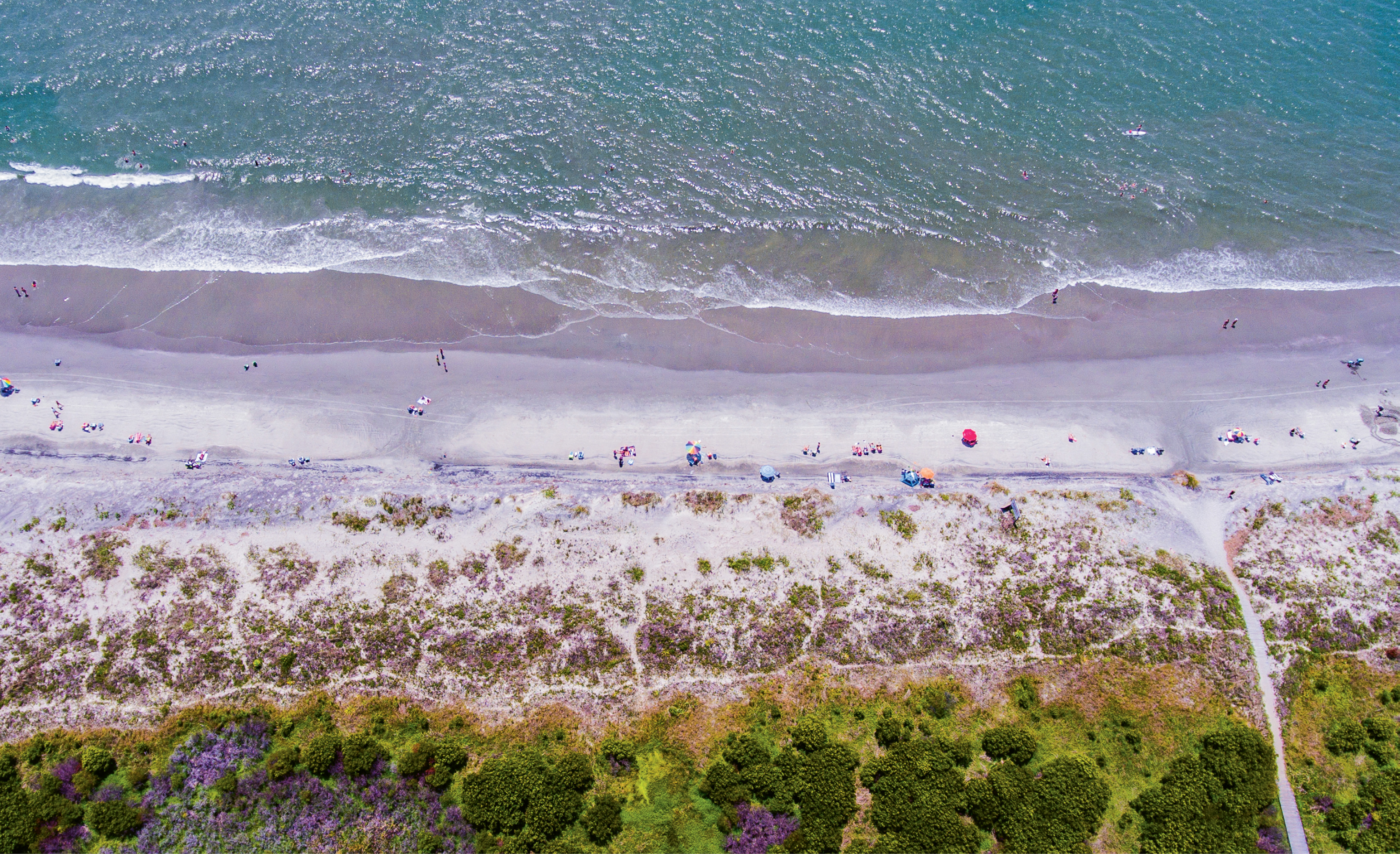"""""""Beach Day on Sully's"""" {Altitude: 350 feet}  Midday in early June near Station 25 on Sullivan's Island"""
