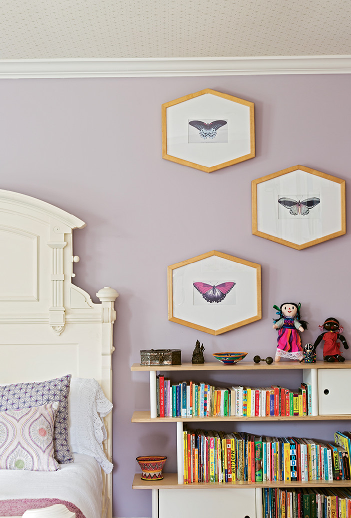 Cloth dolls collected by Melanie's late mother during her travels in Africa now decorate four-year-old Addie's bedroom.