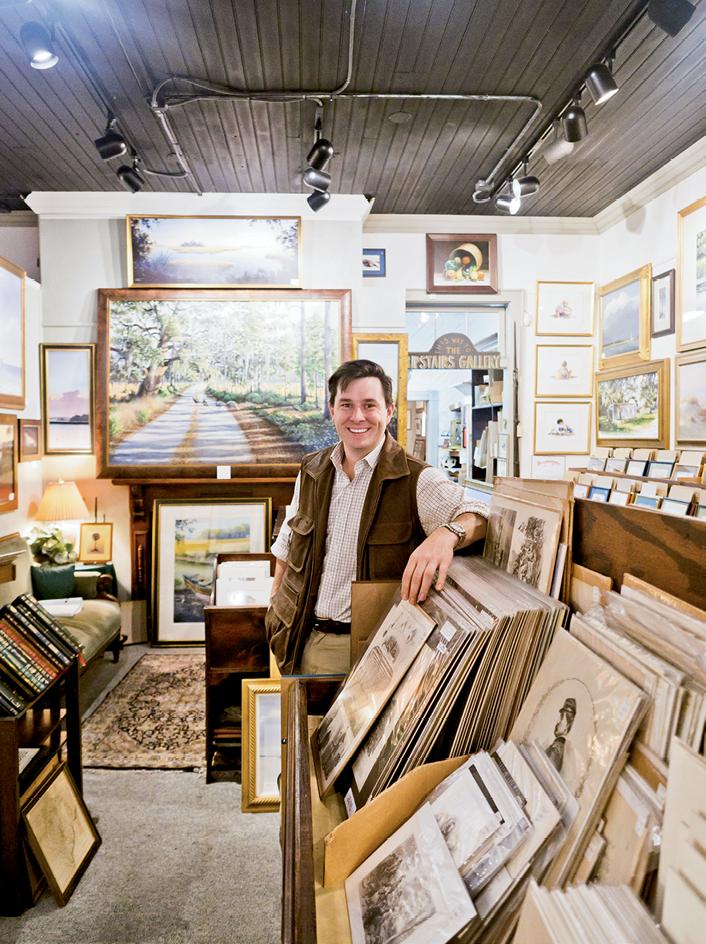 Artist William Rhett III at the Rhett Gallery on Bay Street