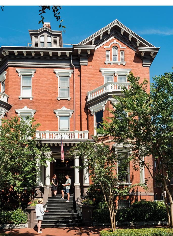 The romantic Kehoe House, a circa-1890s residence-turned-inn on Columbia Square