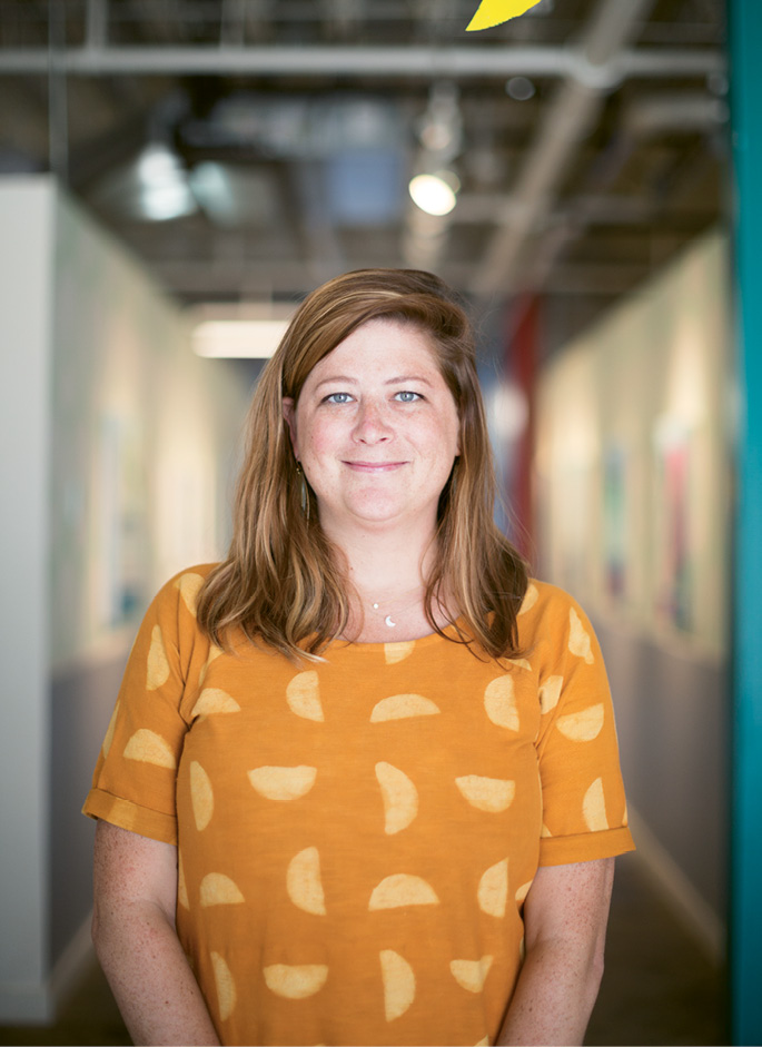 Cara Leepson, executive director of Redux, is excited about opportunities for expanded programming and creative collaboration in the nonprofit's new King Street facility.