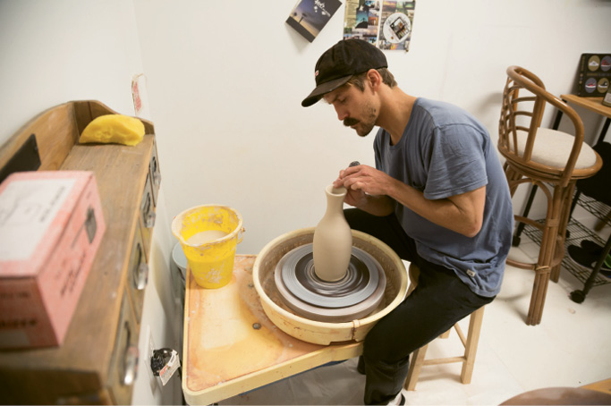 Ceramist Colin Peterson at Redux
