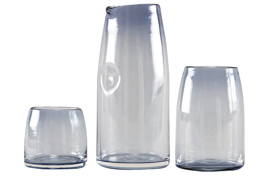 Glassware from The Commons' Shelter Collection