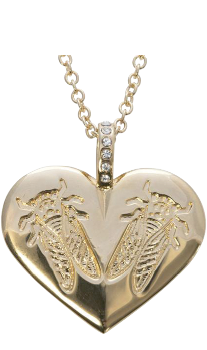 "The Goldbug Collection's ""Lovebug Heart Pendant"""