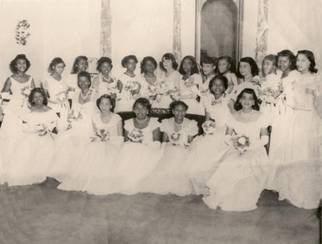 Martin-Carrington with her fellow 1947 debutantes from Avery, Burke, and Immaculate Conception high schools.