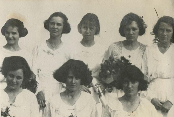Gertie's graduation day at Foxcroft School in 1920