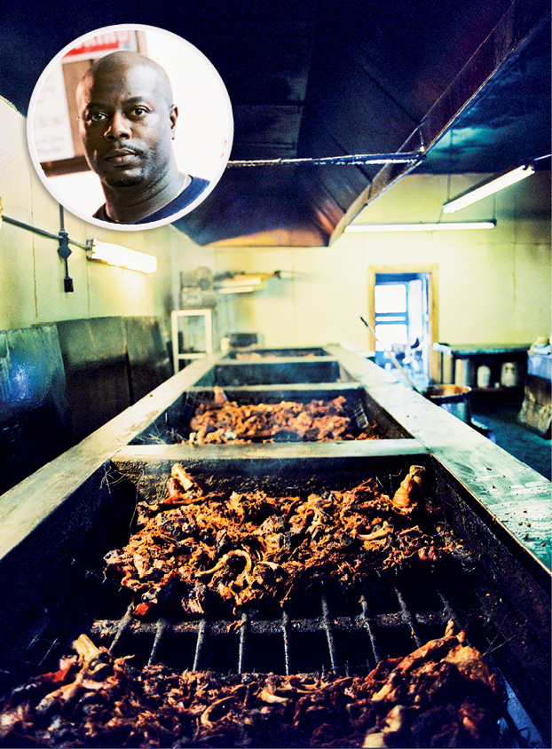 Scott's Bar-B-Que; (inset) Rodney Scott