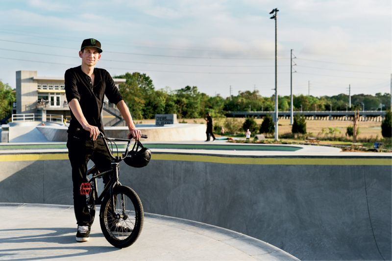 "BMX Freestyle Rider Case Taylor., who won the 2014 Monster Energy Recon Tour amateur division, rides the park most Tuesdays when it is open only to bikes, but wishes he could be out there more. ""The park is amazing, a great place for local BMX riders to ride and train,"" he says."