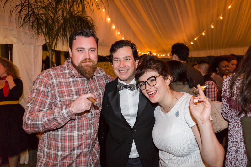 Chef Matt Bolus, winemaker Rob Mondavi, and Ellen Bennett