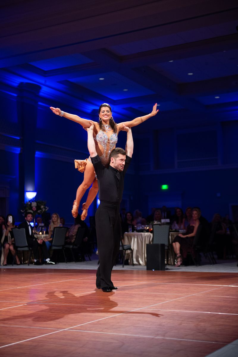 Celebrity dancer Erica Scripa and her partner, Andrey Gergel