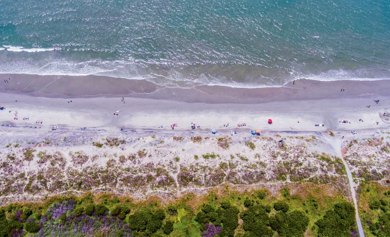 """Beach Day on Sully's"" {Altitude: 350 feet}  Midday in early June near Station 25 on Sullivan's Island"