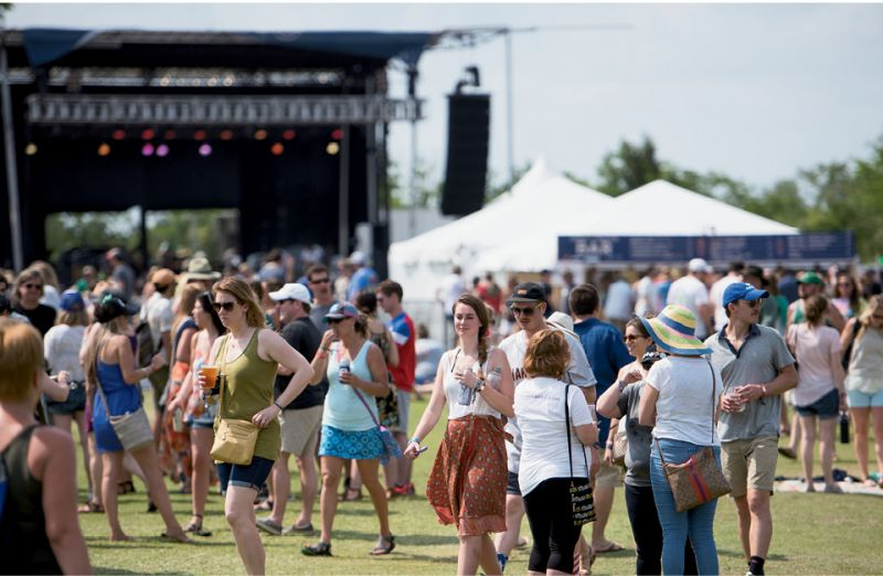 At the High Water Festival, attendees roamed  between stages at North Charleston's Riverfront Park.
