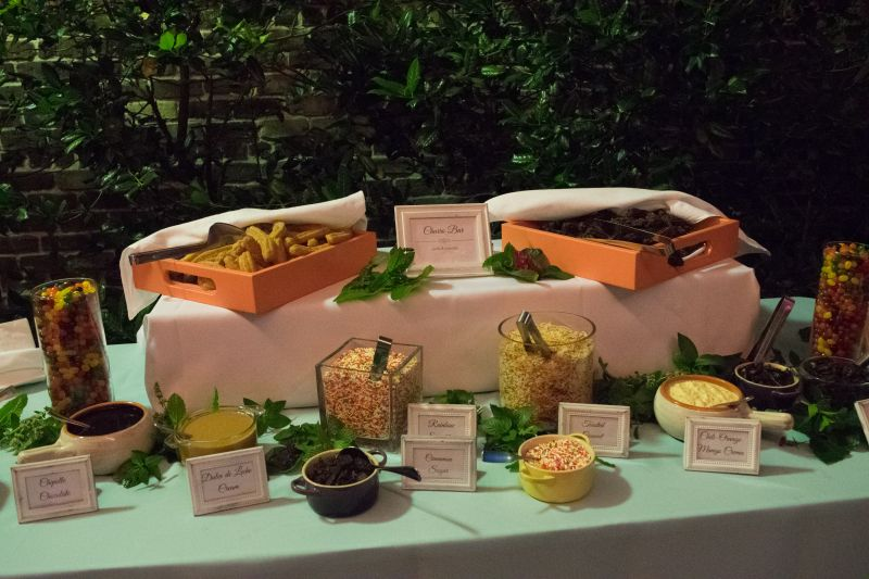 The churro bar starred among the evening's culinary offerings.