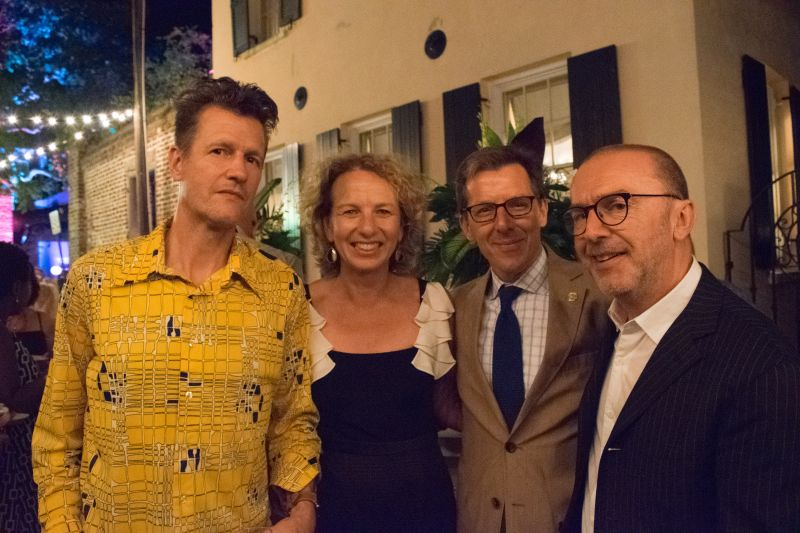 Spoleto Festival USA's Director of Chamber Music Geoff Nuttal, Julie and Bill Medich, and Pedja Muzijevic