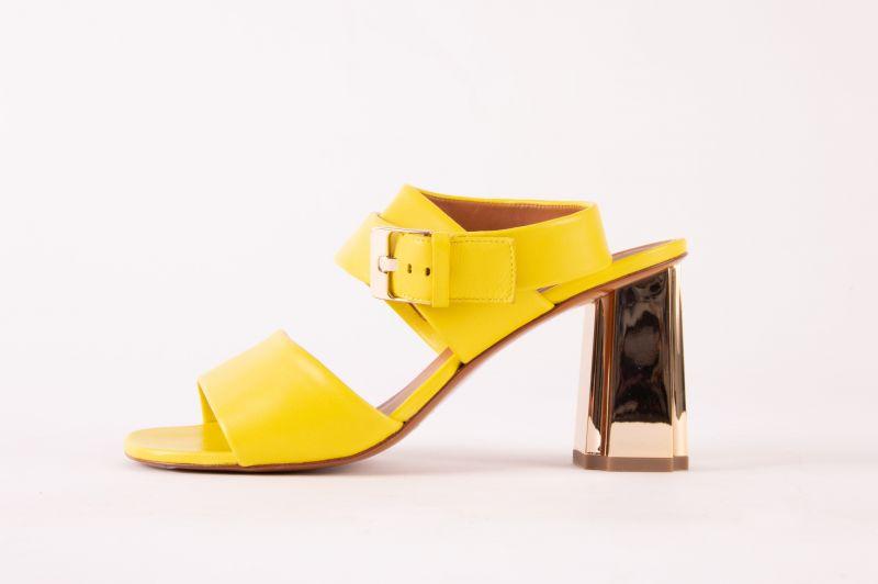 """Clergerie Zora sandal in """"lemon,"""" $595 at Hampden"""