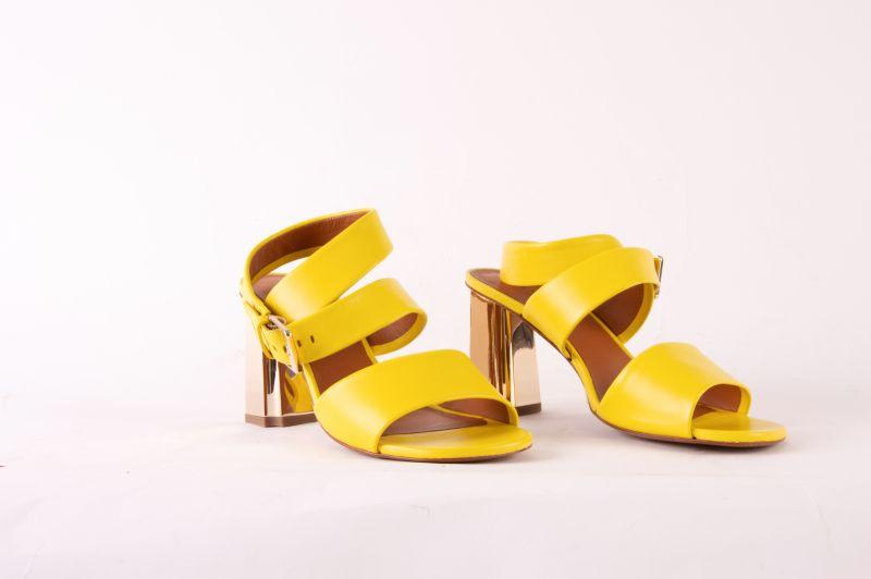 """Clergerie """"Zora"""" sandal in """"lemon,"""" $595 at Hampden"""