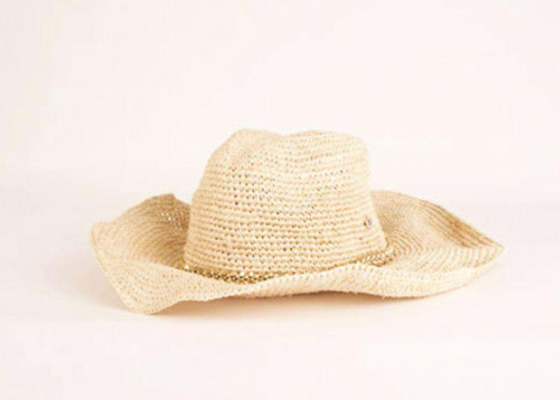 "Flora Bella ""Austin Crochet Cowboy Hat"" in ""almond,"" $148 at Lori Lulu"