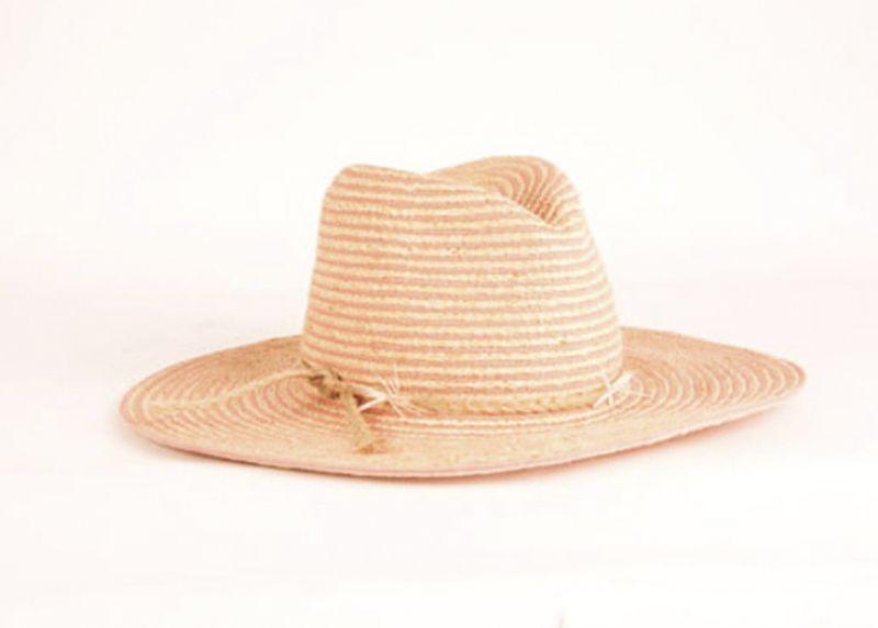 "Gigi Burris ""Jeanne"" hat in ""natural/papaya,"" $413 at Hampden"