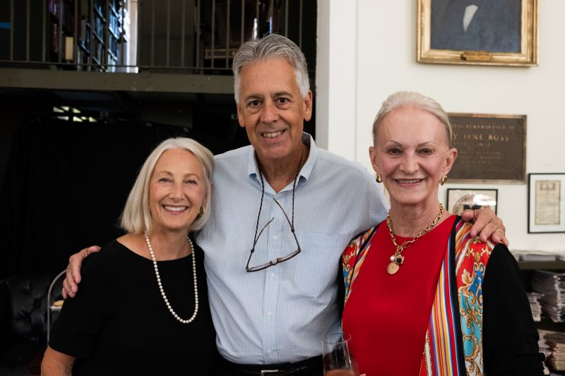 Karen and David Thompson with Delores Rosebrock
