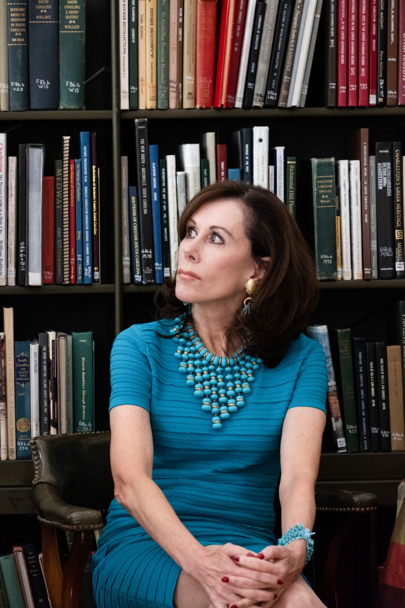 """Roehm noted her honor to speak at the Charleston Library Society, """"one of the oldest and most important libraries in the country."""""""