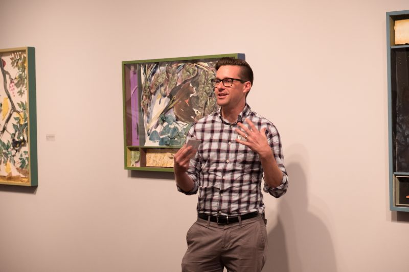 Curator Bryan Granger address the audience.