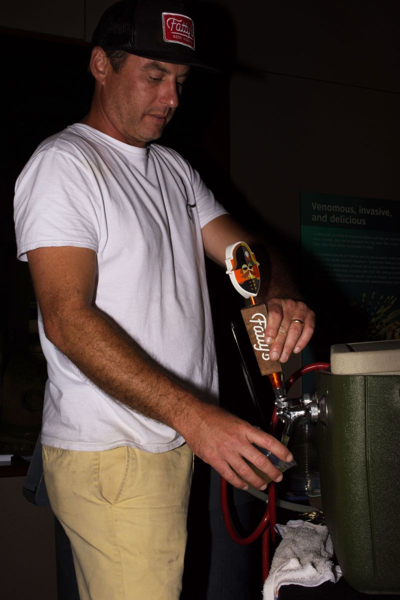 David Mclain manned the tap for Fatty's Beer Works
