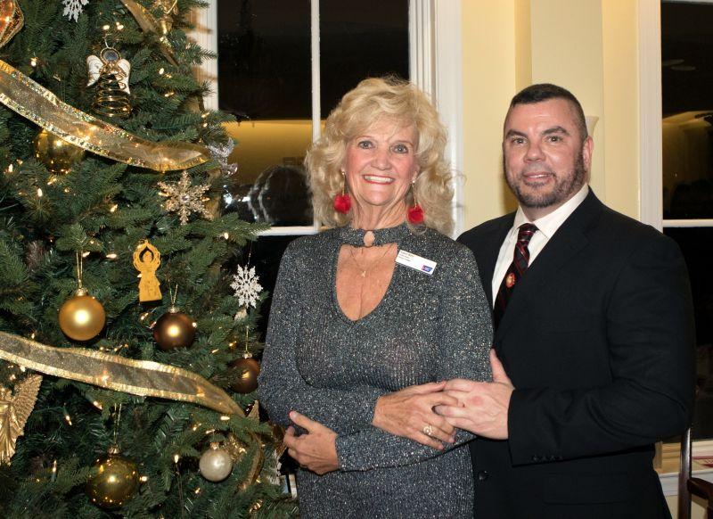 Speaker Kayleen Martin and her son Troy Waldrop