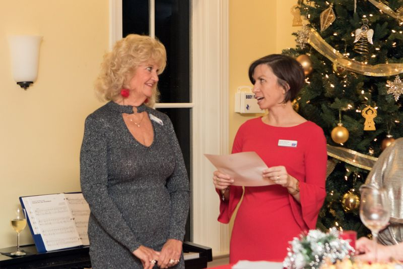Sundi Herring and former Hope Lodge guest Kayleen Martin
