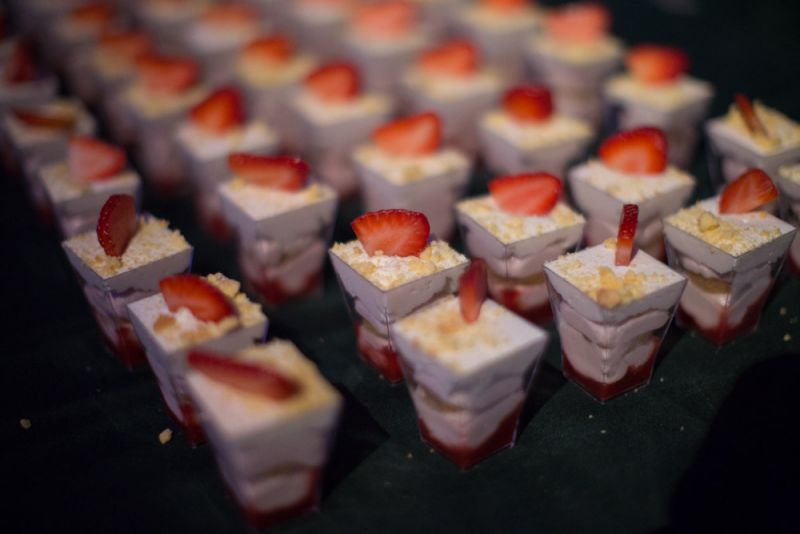 To cap off the evening, guests indulged in dozens of tiny desserts.