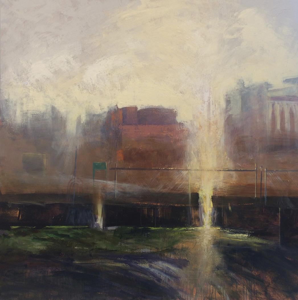 Halation (acrylic on canvas, 60 x 60 inches, 2018)