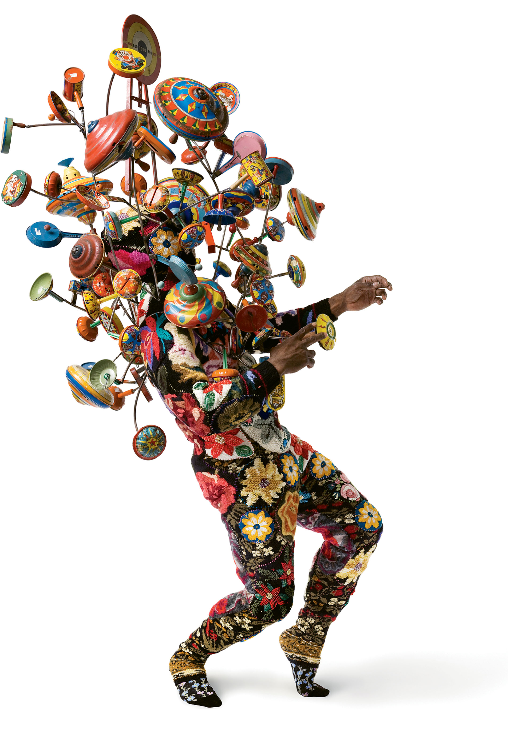 """Artist Nick Cave's sculptural Soundsuits exemplify the whimsical, somewhat off-kilter conceptual art that Sloan is drawn to. """"It's not what you expect to find in the middle of historic Charleston,"""" he says."""