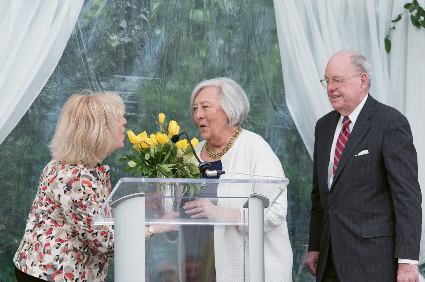 Last April, renowned flutist and Spoleto Festival Chamber Music alum Paula Robison presented the Mary Ramsay Civic Award to Peter and Patti.