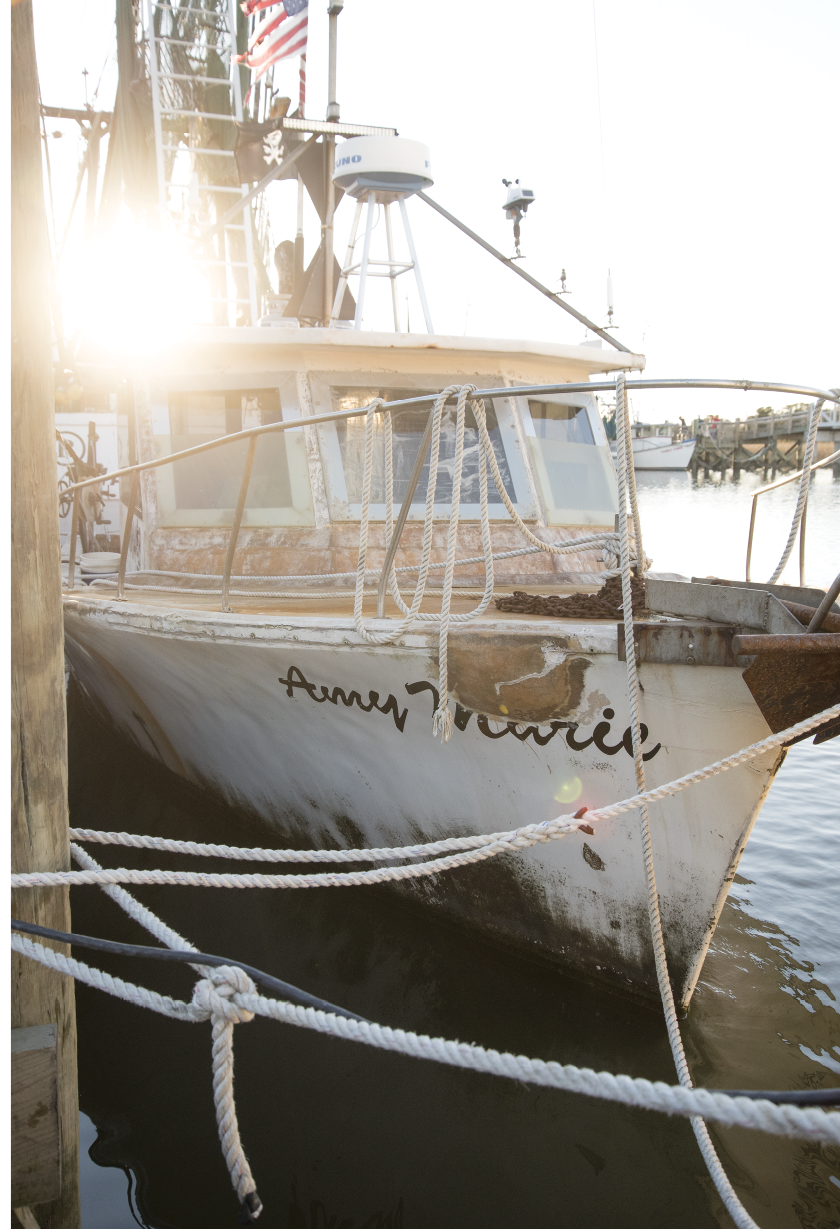 The Marhefkas' 35-year-old fiberglass workhorse, the Amy Marie