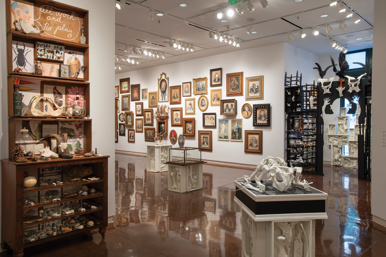 """In January, Alabama artist Butch Anthony presented """"Inside/Out,"""" showcasing his folk art-influenced assemblages and found objects from his cabinet of curiosities."""