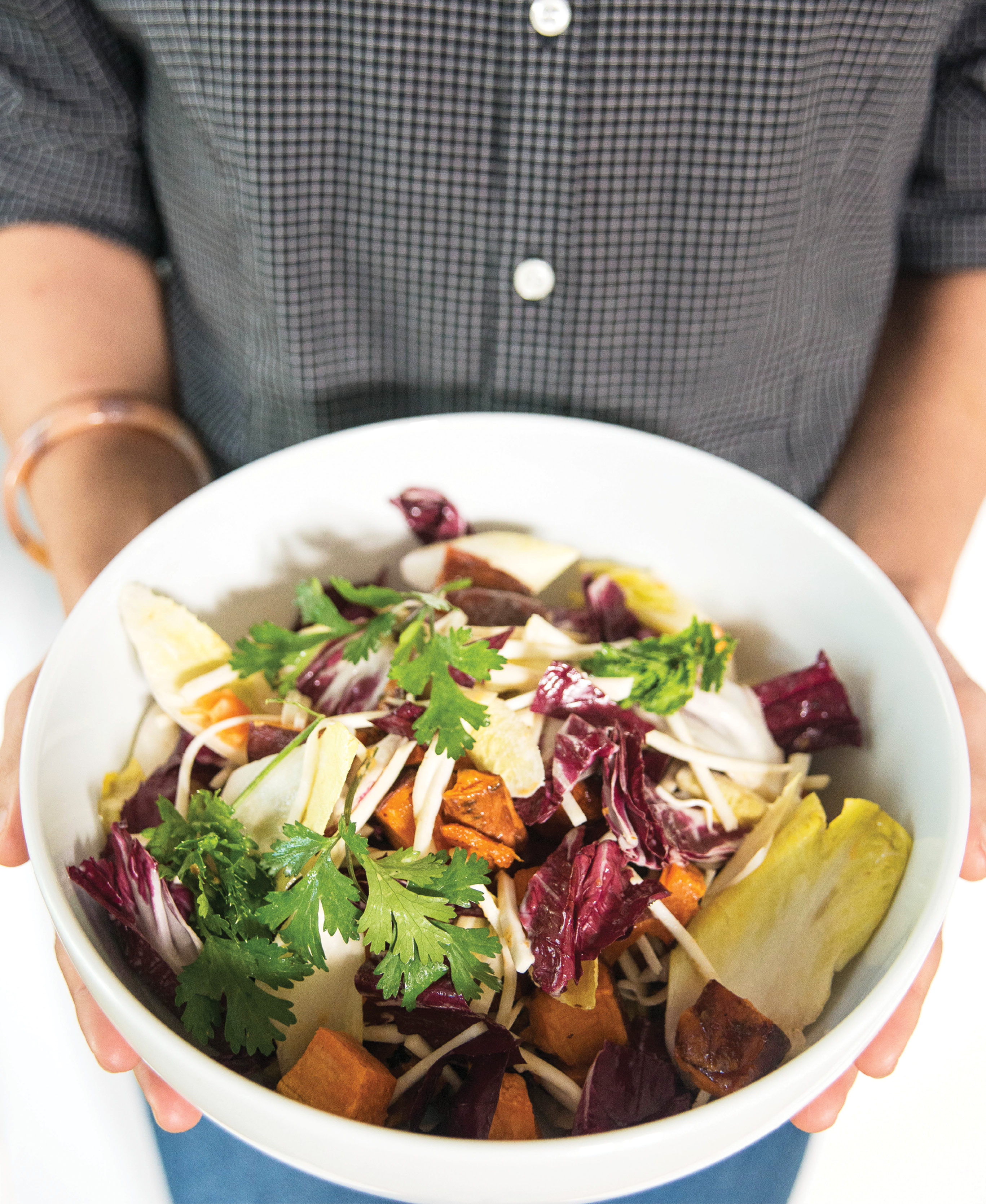 This celery  root and sweet potato salad was inspired by Walker and Li's time in Tokyo.