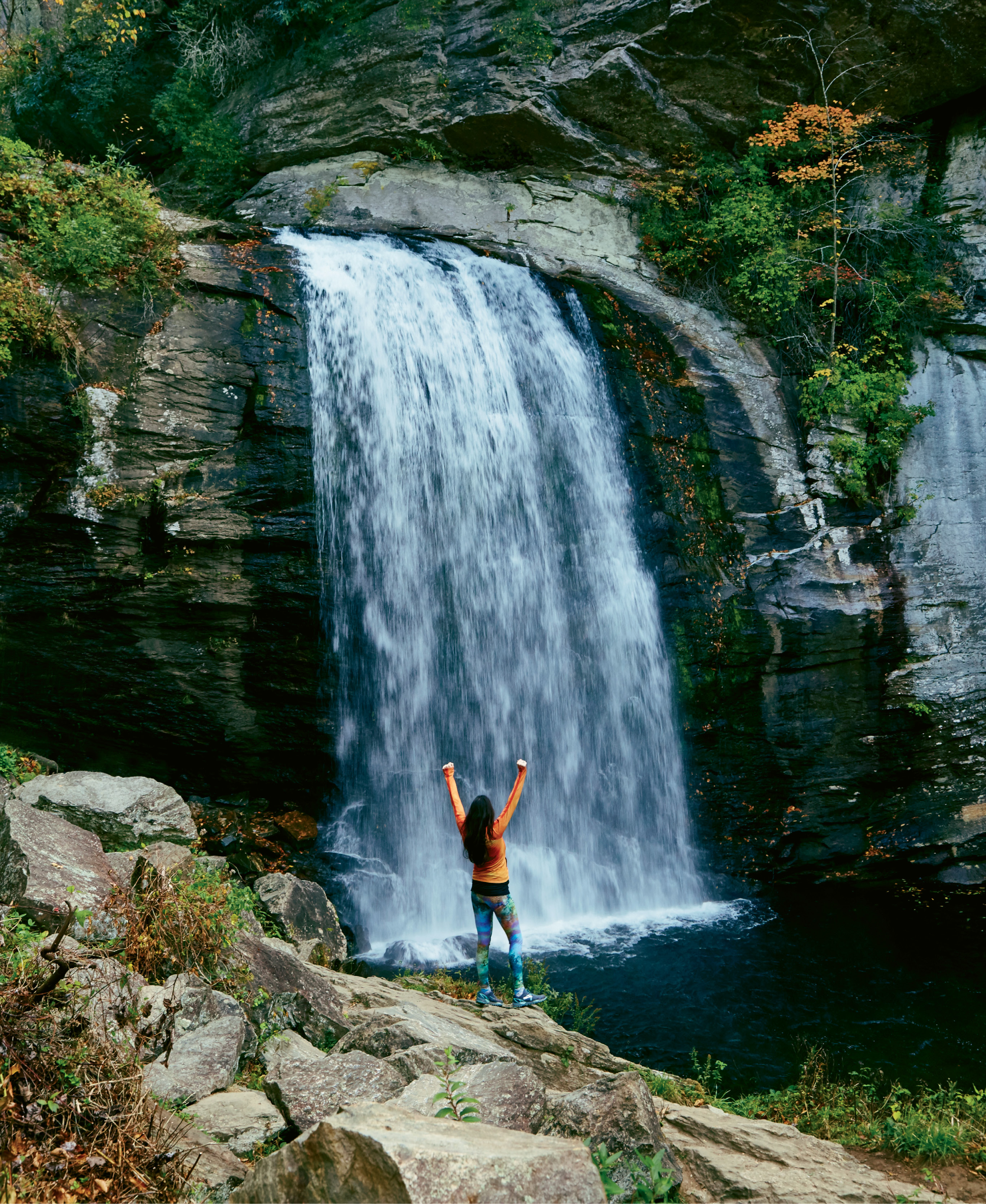 """Pisgah's Looking Glass Falls, one of 250 reasons Transylvania County is known as """"Land of Waterfalls"""""""