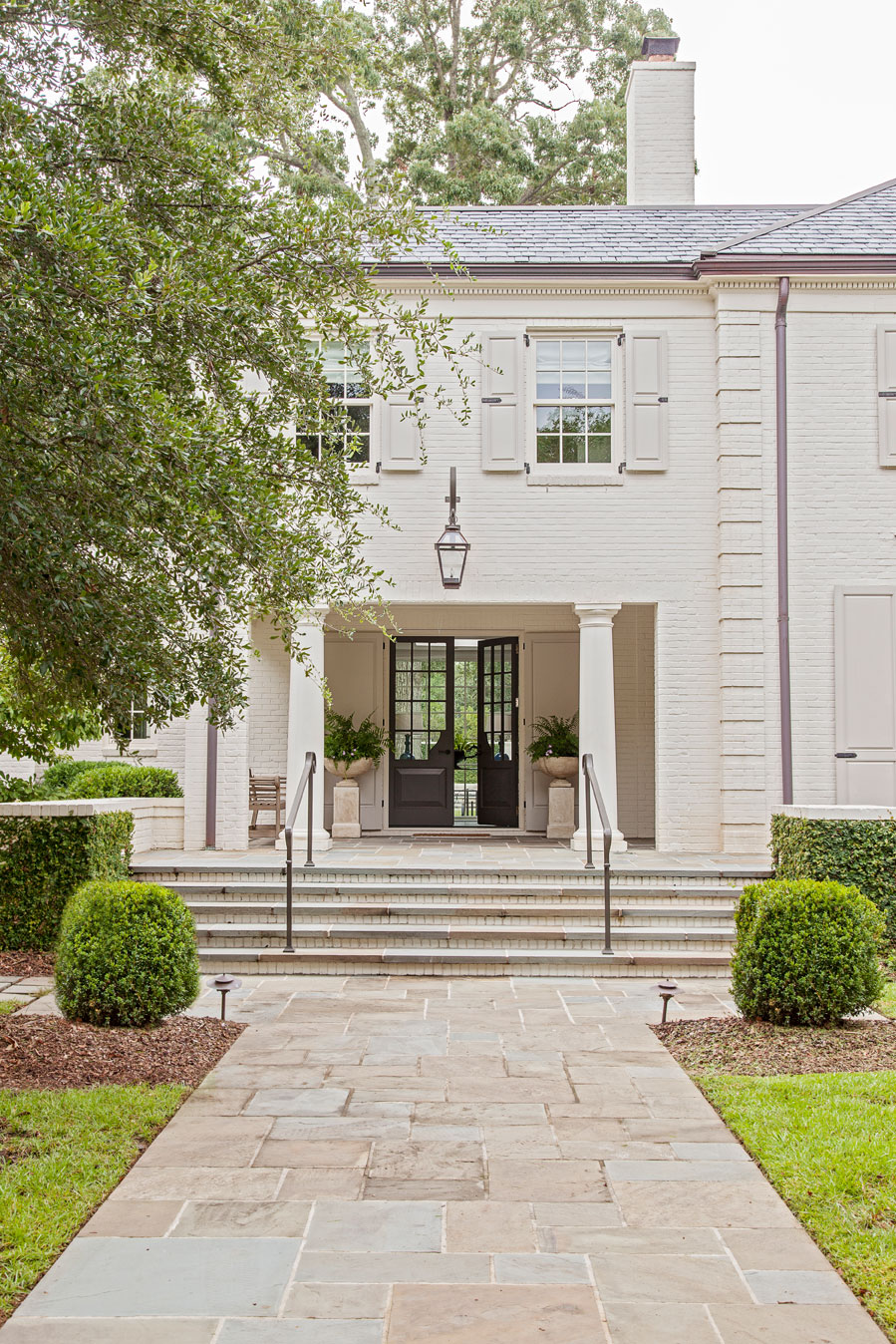 The original façade remains unchanged out of respect for the home's history.