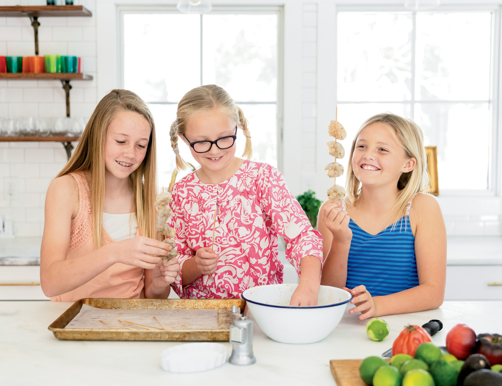 """We live two blocks from the best seafood around,"" says Carrie Morey, who sends her daughters, Caroline, Cate, and Sarah to Shem Creek to buy shrimp."