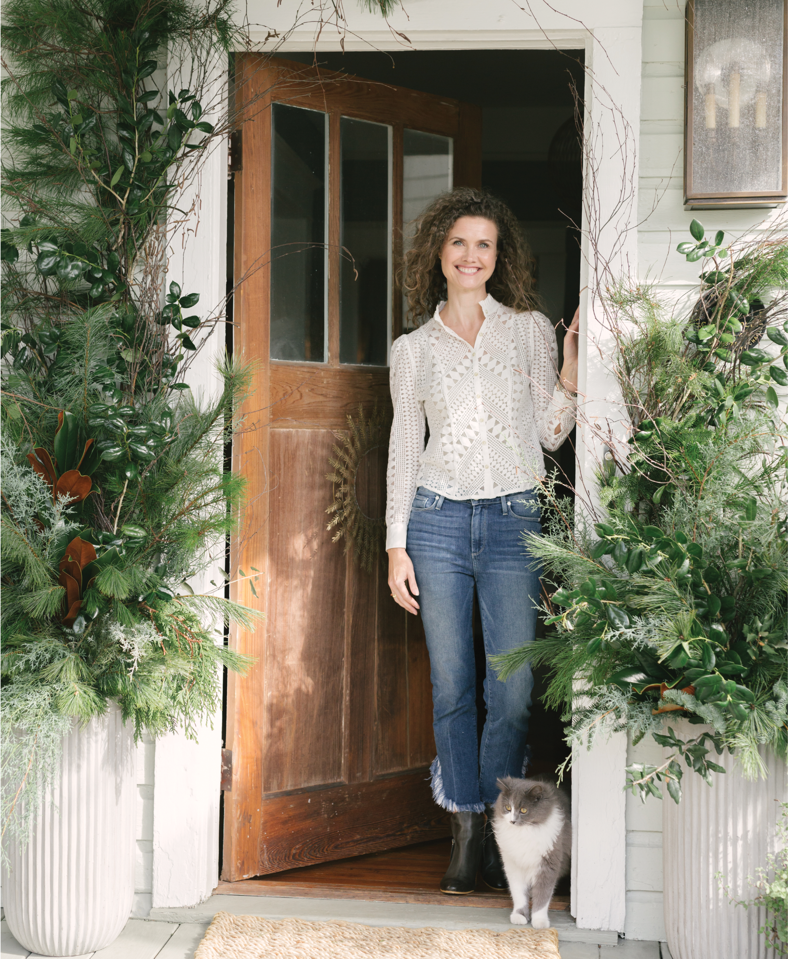The designer at her North Central home