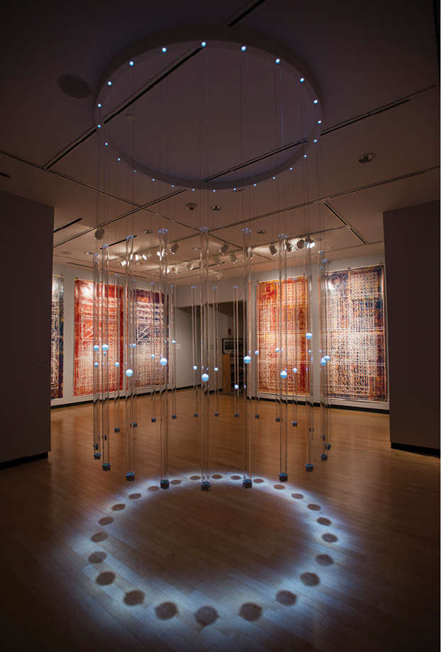 """Erwin Redl's """"Rational Exuberance"""" in 2016 included a centerpiece light installation exploring scale, repetition, and patterns."""