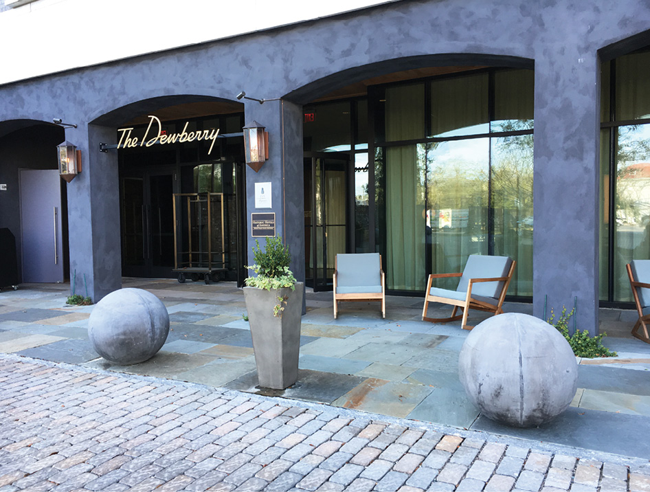 The Dewberry offers up inviting outdoor seating areas.