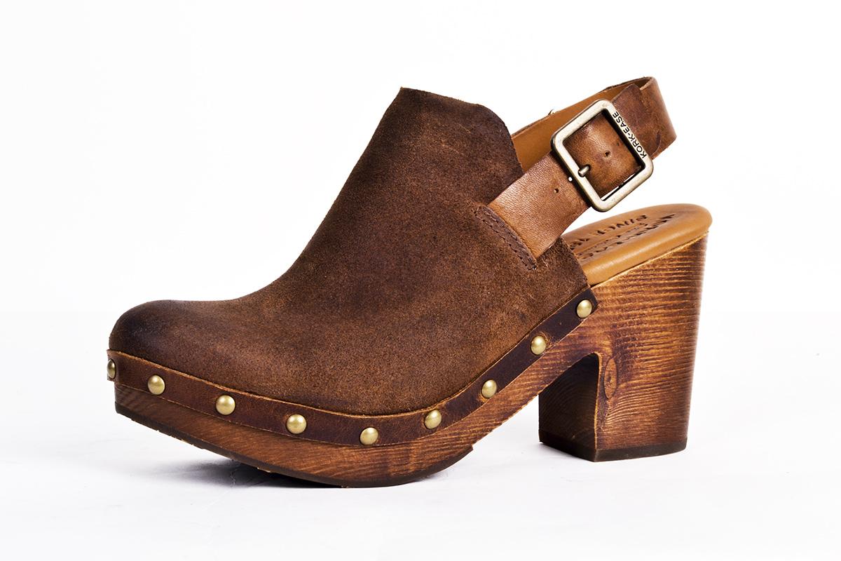 """Kork-Ease """"Rosalind"""" leather clog, $190 at Copper Penny Shooz"""