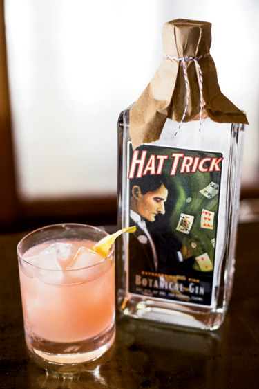 """SPIRITS: High Wire Distilling; """"Hat Trick is full of delicious botanicals; drink it over ice with a touch of Jack Rudy bitters and a splash of soda."""" —Vinson Petrillo, Zero Restaurant + Bar"""
